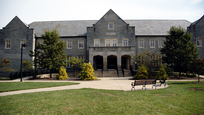 Exterior view of Presser Hall