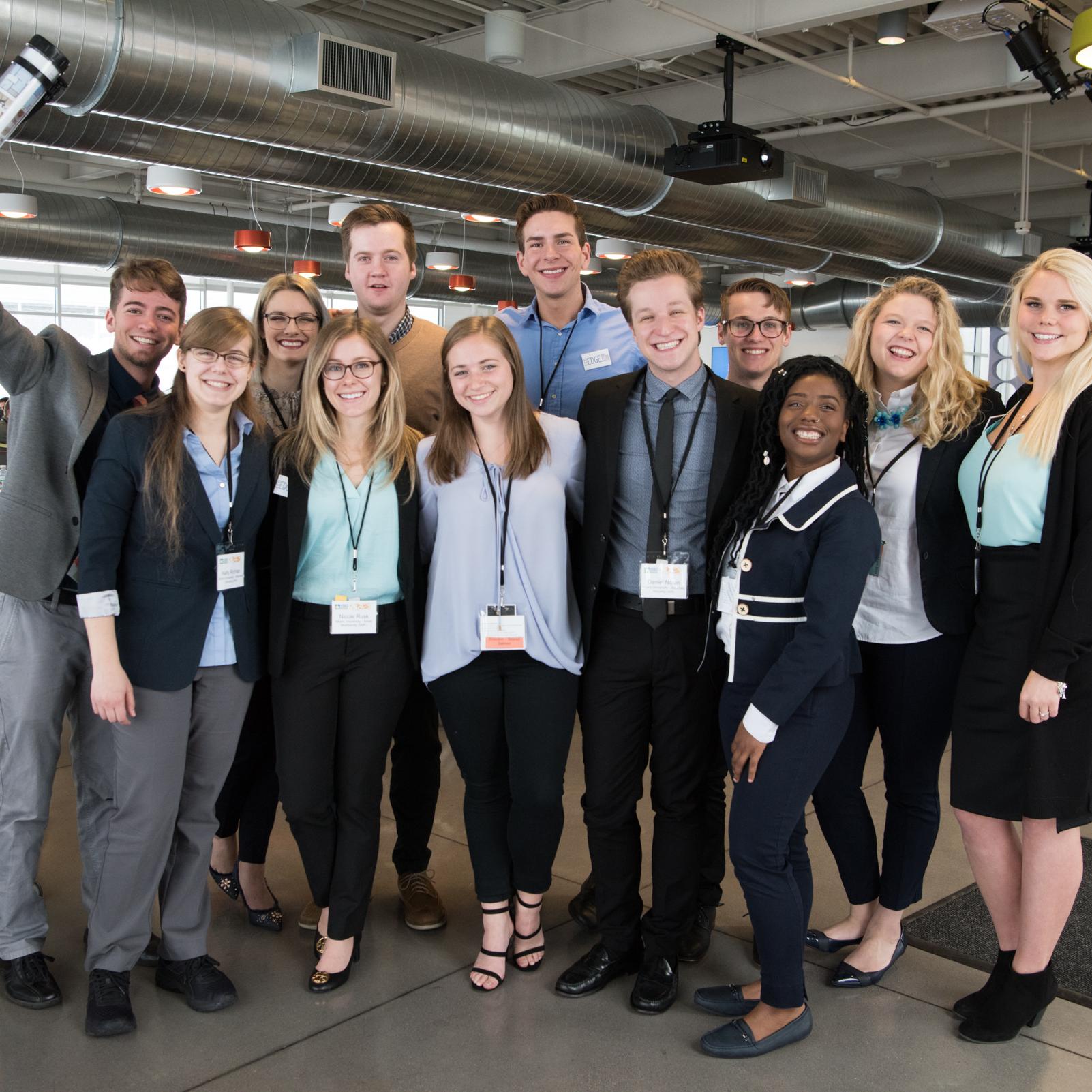 Students pose in Colorado