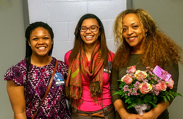 A'Kara Harris and Chanell Upshaw with Cassandra Wilson