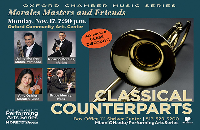 Classical Counterparts Poster: Morales Masters & Friends