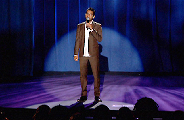 Aziz Ansari on stage