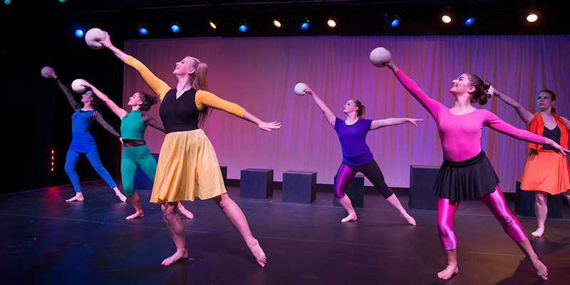 Dance Theatre performance onstage at Gates-Abegglen