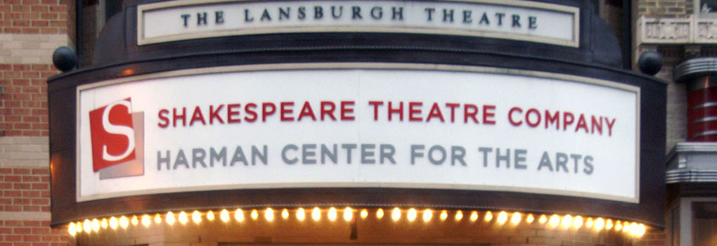 The exterior and marquee of the Lansburgh Theatre in Washington DC