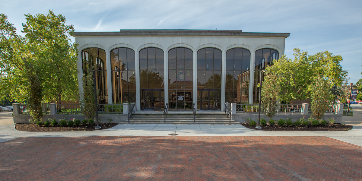 Exterior of the CPA, facing the lobby of the Gates Abegglen Theatre