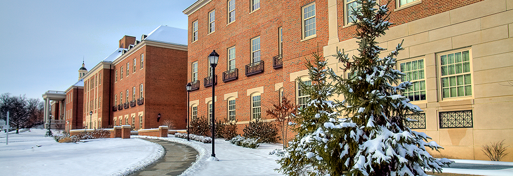 Engineering Building in the wintertime