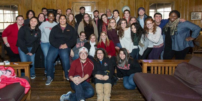 Group of SAHE students at a Retreat