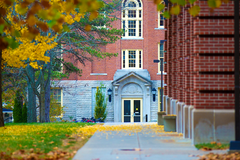 McGuffey Hall in the fall