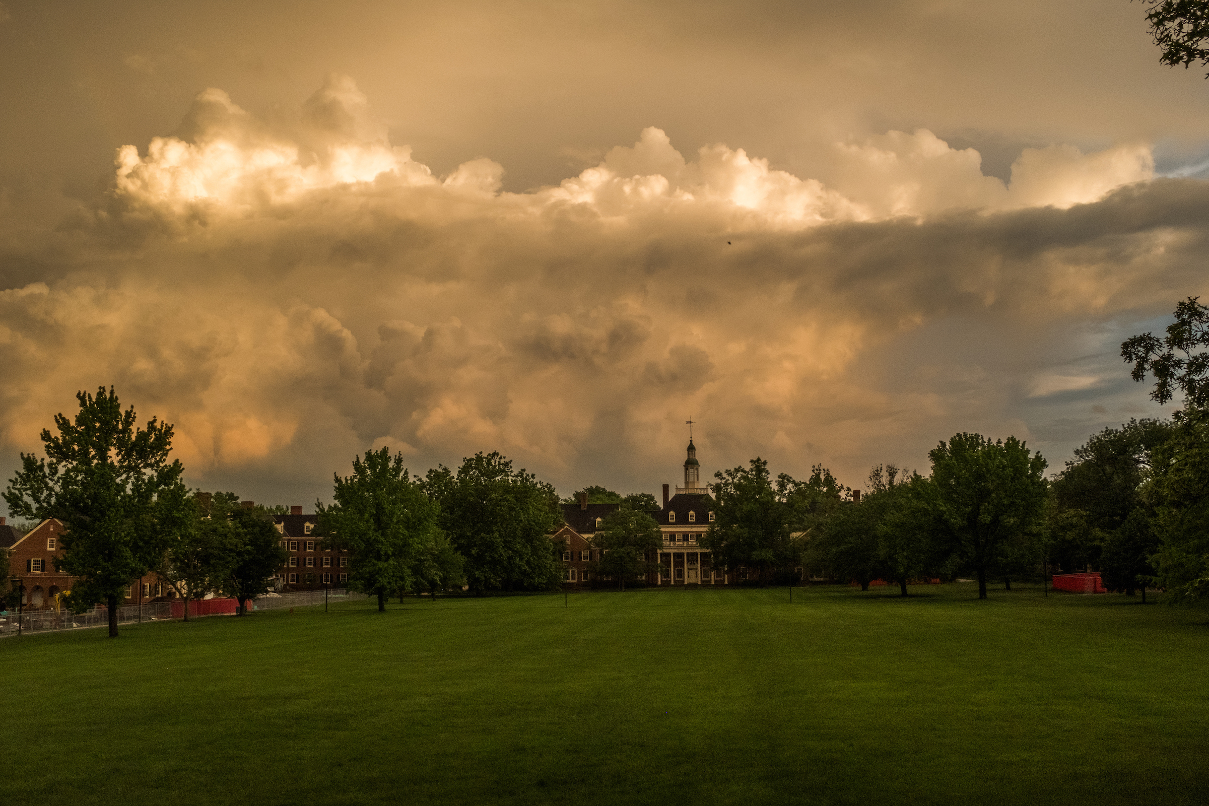 Miami University campus at dusk