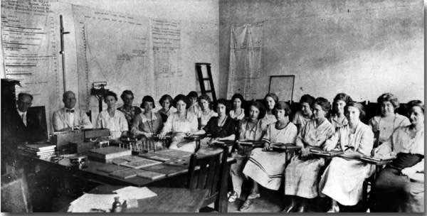 The first class in Special Education, 1921