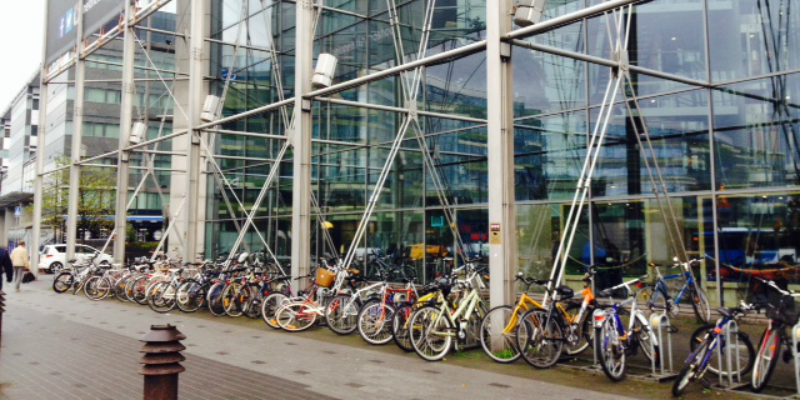Bikes outside building in Finland