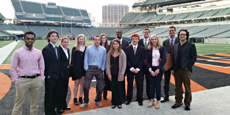 KNH students at Paul Brown Stadium