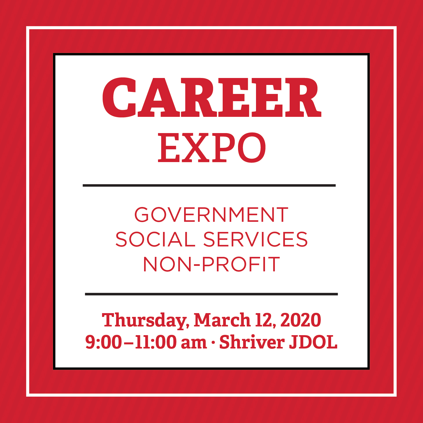 Government, Social Services and NonProfit Career Expo