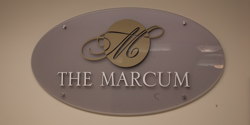 Sign for The Marcum Hotel and Conference Center