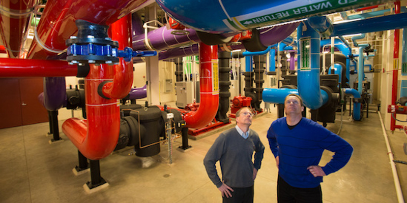 Inside view of the Miami University Geothermal Energy Plant
