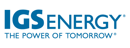 IGS Energy logo, the power of tomorrow