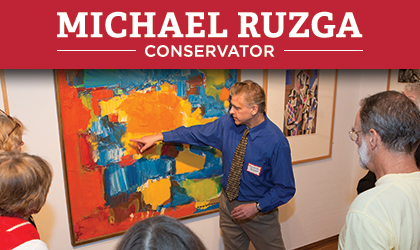 Michael Ruzga — Conservator explains career paths, demonstrations, and answers questions on Monday, March 13 from 12–1:30PM at Miami University Art Museum