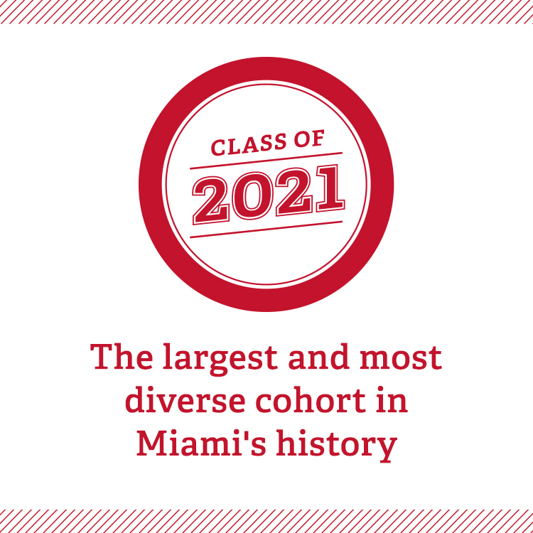 Class of 2021- the largest and most diverse cohort in Miami's history