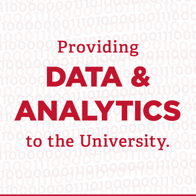 Providing data and analytics to the university