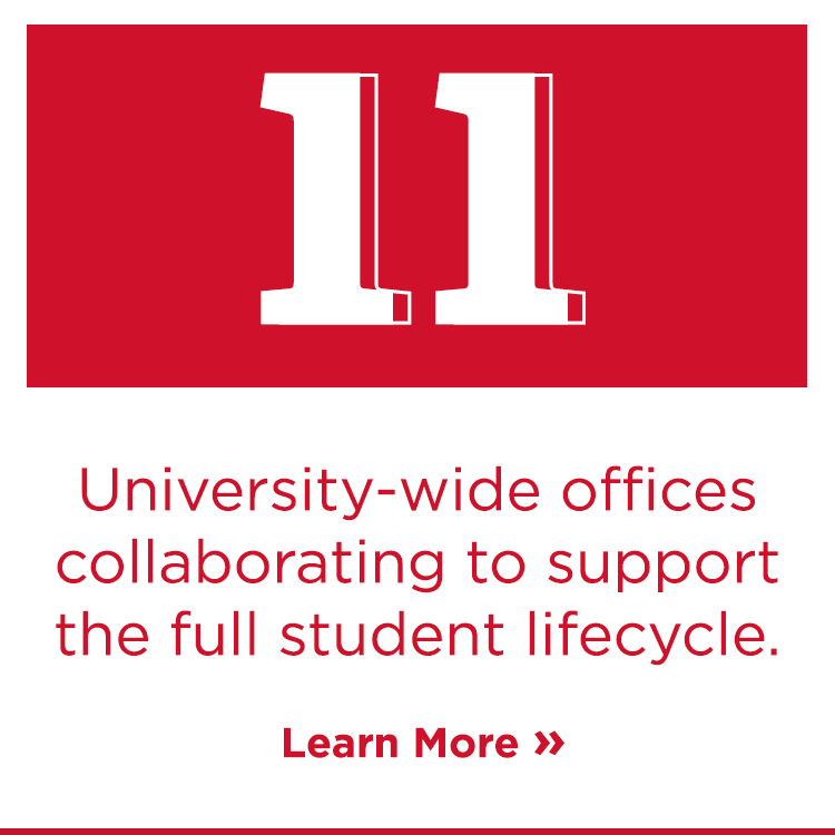 Eleven university-wide offices collaborating to support the full student lifestyle. Learn more.