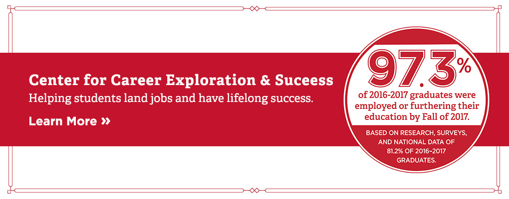 Center for career exploration and success. Helping students land jobs and have lifelong success. Learn more.