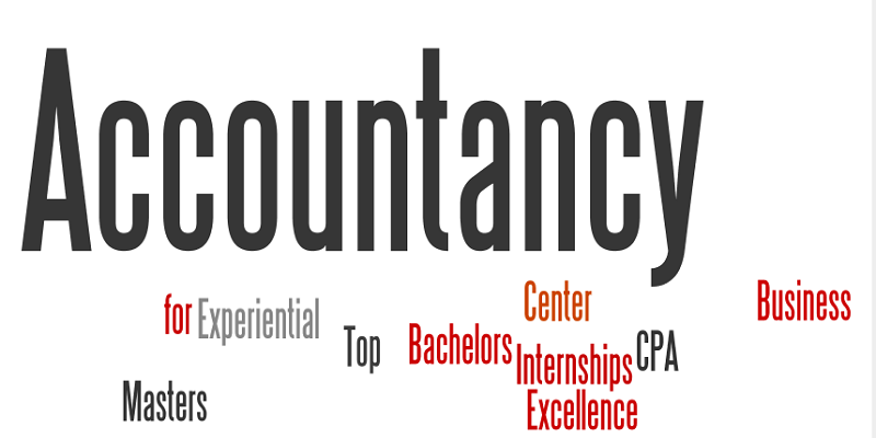 Accountancy for experiential masters top bachelors center internships excellence CPA Business are all floating as words in a word cloud