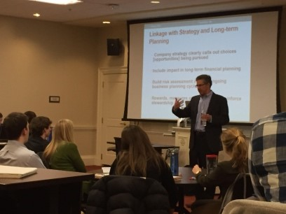 Consultant Tim Gibler Participating in Executive Leadership and Corporate Governance Capstone Course