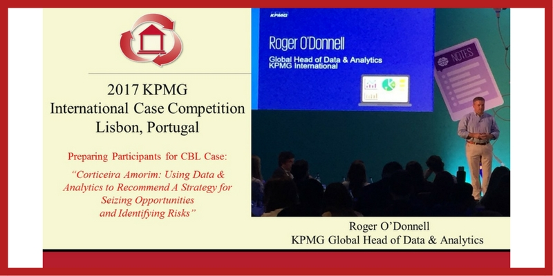 2017 KPMG International Case Competition, Lisbon, Portugal. Preparing Participants for CBL Case - Corticeira Amorim, Using Data and Analytics to Recommend A Strategy for Seizing Opportunities and Identifying Risks. Pictured - Roger O