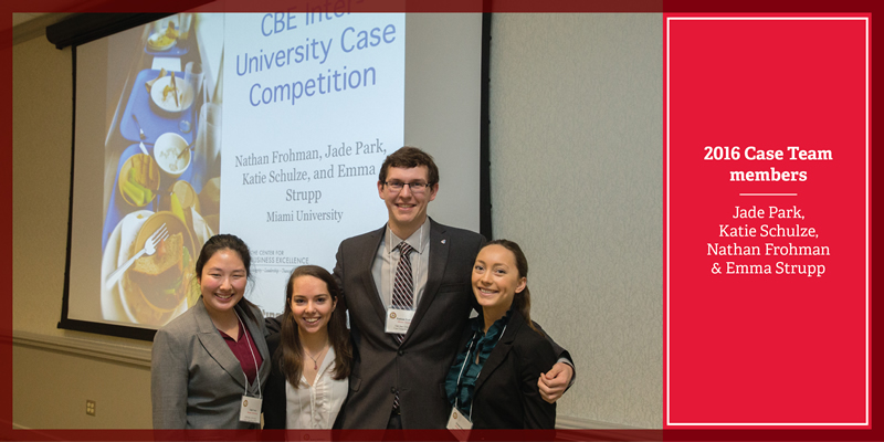 2016 Case Team members Jade Park, Katie Schulze, Nathan Frohman and Emma Strupp