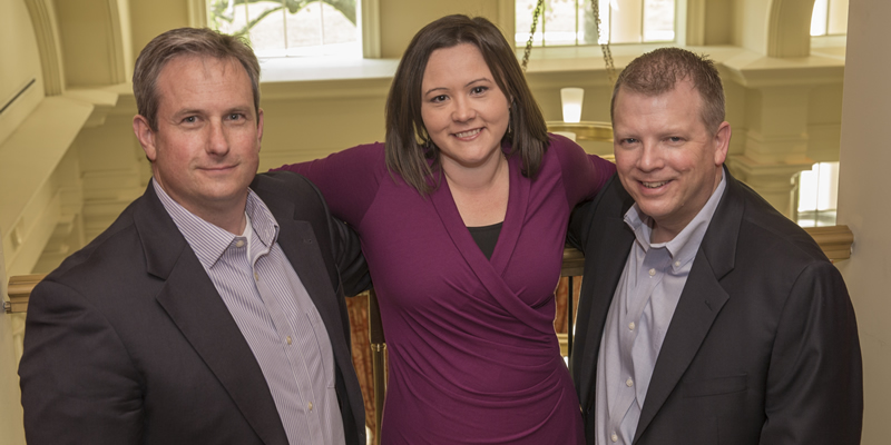 Dan Heitger, Megan Gerhardt and Brian Ballou, co-directors of the Center for Business Leadership