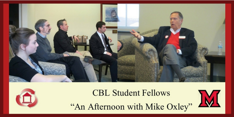 CBL Student Fellows - An Afternoon with Mike Oxley