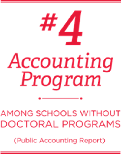#4 accounting program among schools without doctoral programs