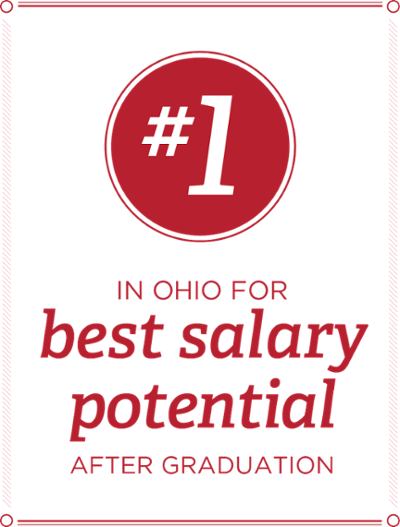 #1 in Ohio for best salary potential