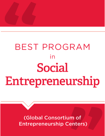 Best program for social entrepreneurship