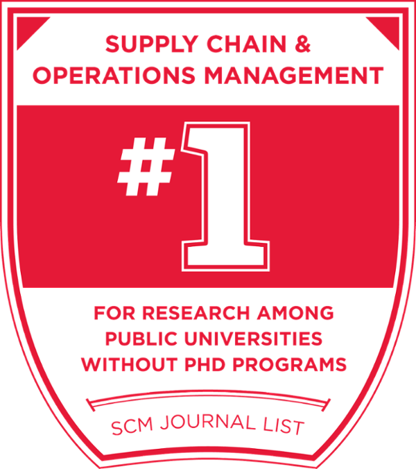 #1 in supply chain and operations management research among public schools without PhD programs