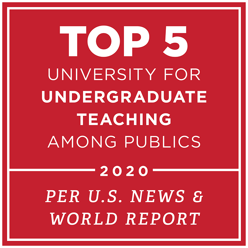 #3 university for undergraduate teaching nationwide