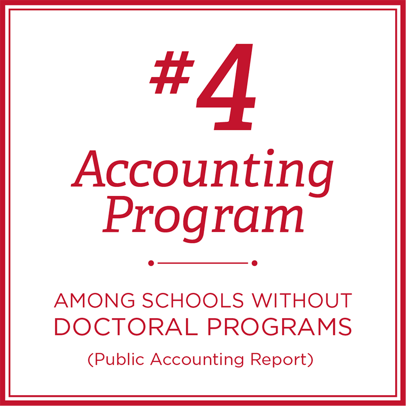 Number 4 Accounting Program among schools without doctoral programs