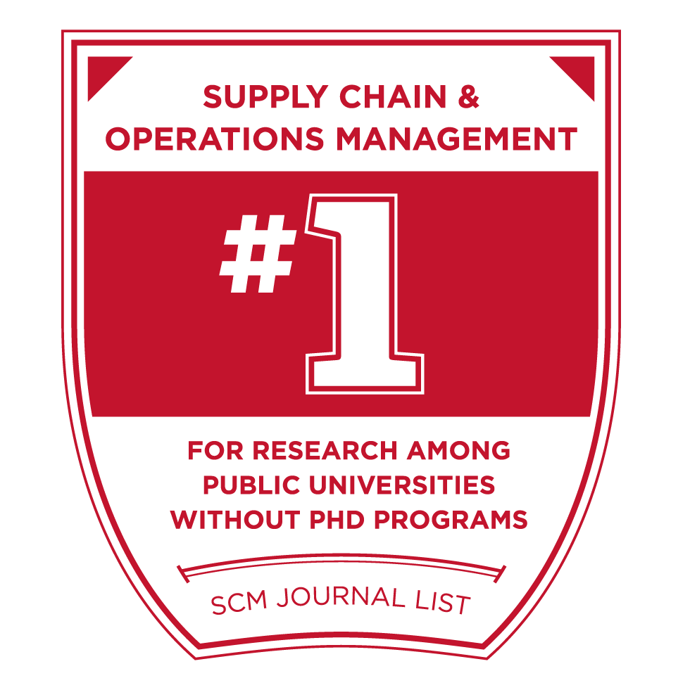 Supply Chain and Operations Management - 1 For Research among public universities without phd programs - SCM Journal List