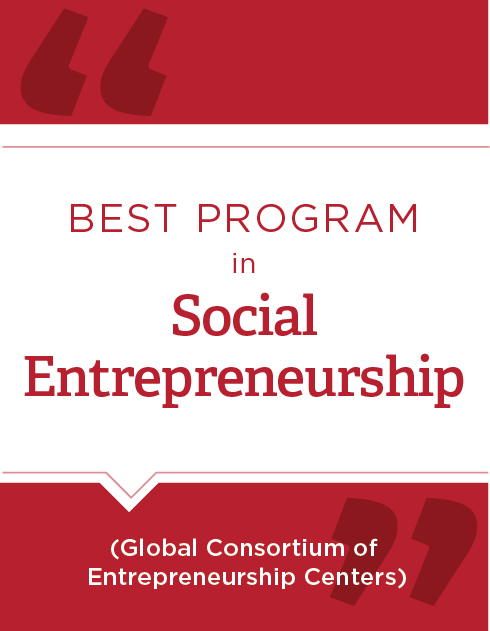 Best Program in Social Entrepreneurship (Global Consortium of Entrepreneurship Centers)