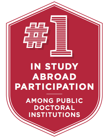 #2 nationally for study abroad programs among public doctoral institutions. 60% participate