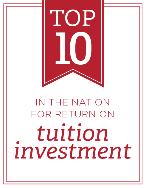 Top 10 in the nation for return on tuition investment