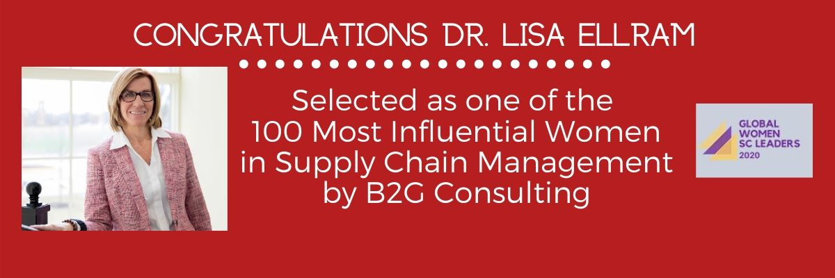 Lisa Ellram named one of the 100 Most Influential Women in Supply Chain by B2G Consulting