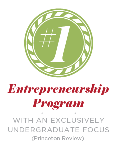 #1 entrepreneurship program with an exclusively undergraduate focus (Princeton Review)