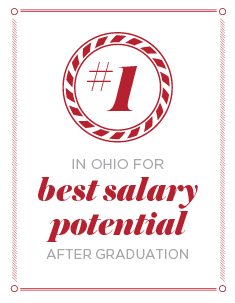 #1 in Ohio for best salary potential after graduation