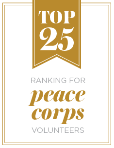 Top 25 ranking for peace corps