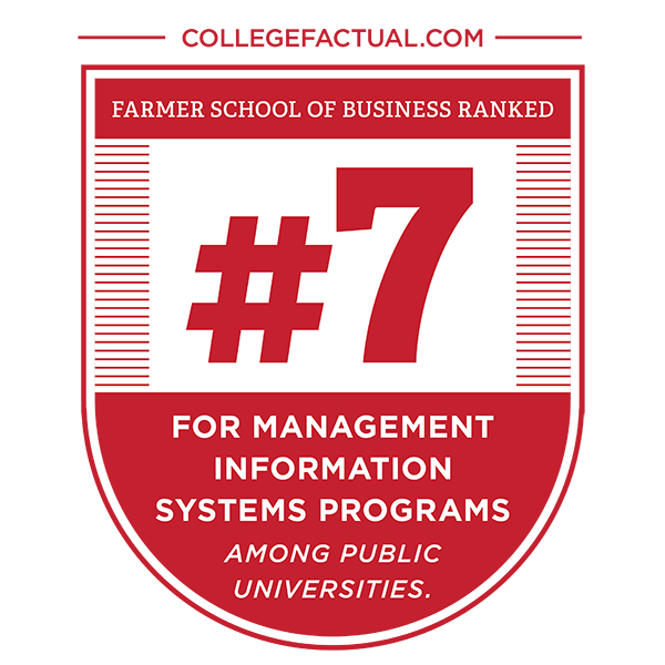 Per CollegeFactual.com, FSB Ranked #7 for Management Information Systems Programs