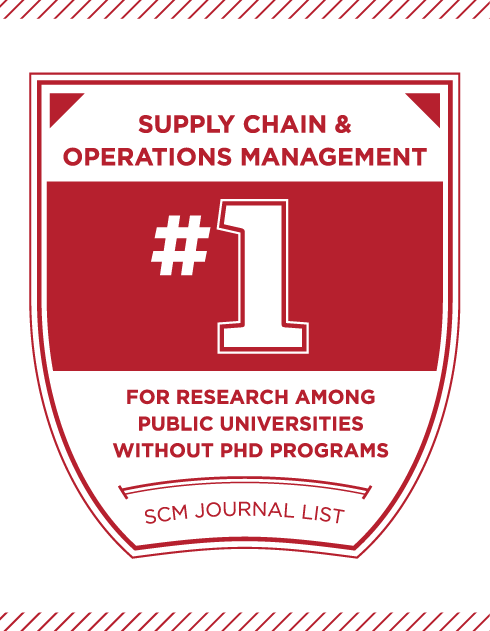 #1 Supply chain and operations management among public universities without PhD programs. –SCM Journal List