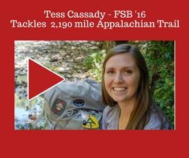 2016 Framer School graduate, Tess Cassidy, tackled the 2,190 mile Appalachian Trail.