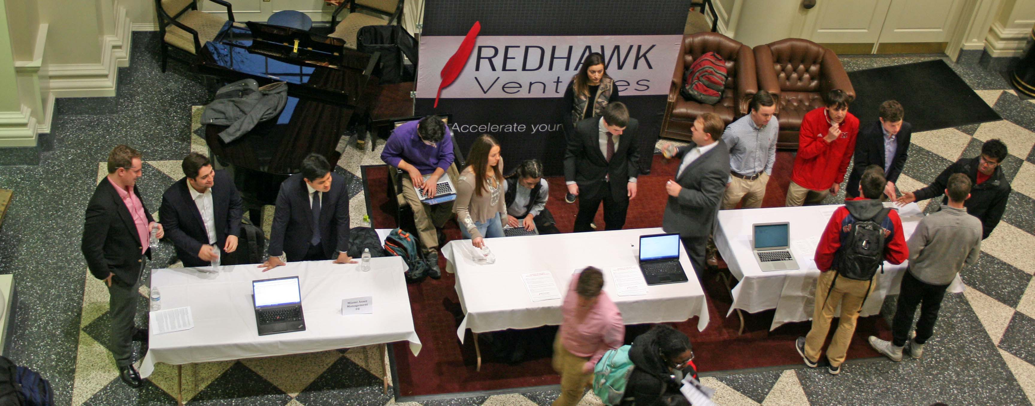 Redhawk Ventures table at Meet the B-Orgs
