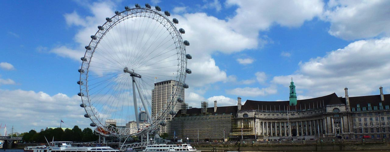 London Eye and surrounding buildings