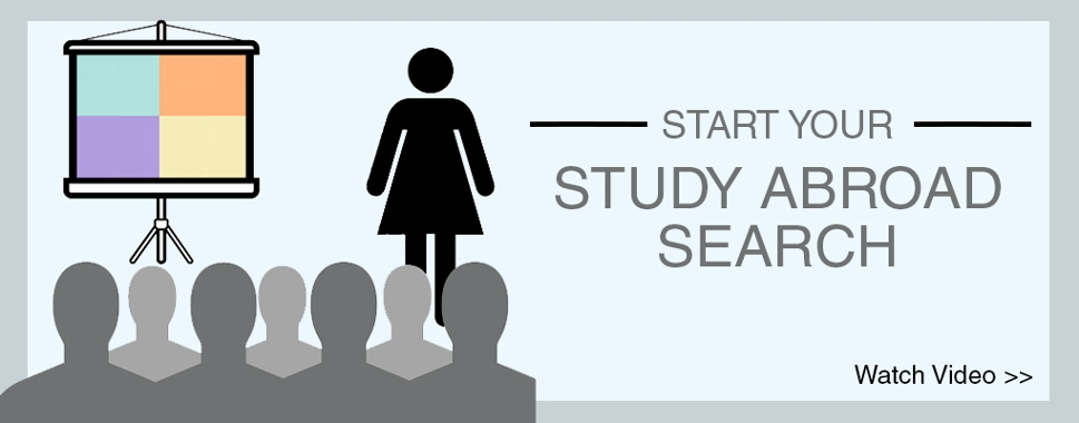 Start your study abroad search. Watch video.